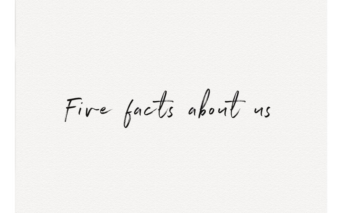 Five Facts About Us